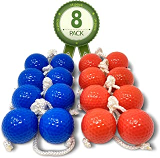 Kayco Outlet - Tournament Quality Ladder Balls Replacement – 8 Pack - for Outdoor Ladderball Toss and Golf Game Set 14.75