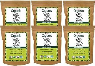 Radico 100% Organic Henna Powder, 100g, Brown (Pack of 6)