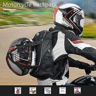 Per Motorcycle Backpack with Helmet Holder Waterproof Riding Bag Cycling Helmet Storage Shoulder Locomotive Backpacks Helmet Bags Brigade Equipment Also Fit Basketball Football Soccer Backpack