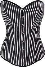 Discreet Tiger Satin Style Black White Striped Corset