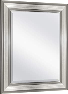 MCS 21x25 inch Frame with 16x20 inch Ridged Mirror, Silver (20578)