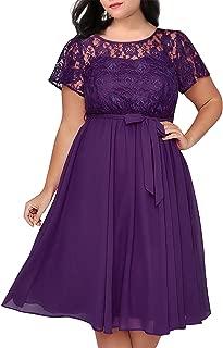 Best plus size purple lace dress Reviews