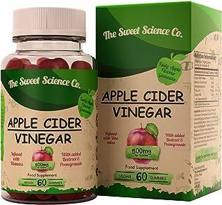 comprar comparacion Vinagre de Sidra de Manzana - 60 Gomitas de Apple Cider Vinegar para Perdida de Peso, Quemagrasas Natural para Adelgazar V...