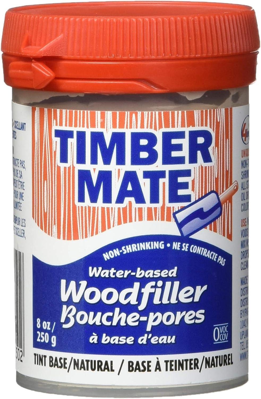 Timbermate Wood Filler, Water Based, 8oz, Natural