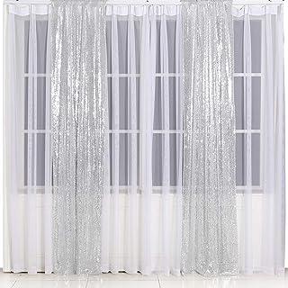 Eternal Beauty Pailletten Hintergrund für Hochzeit, Fotohintergrund, Silber, 3Ftx7Ft