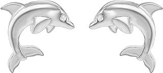 Tuscany 纯银海豚耳钉