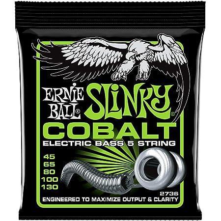 Ernie Ball 2736 Jeu de 5 cordes en cobalt pour basse 45-130