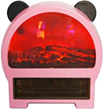 Electric Small Space Heater with Portable Ceramic Heater with 3D Flame Effect and Overheat Protection Adjustable Thermosta...