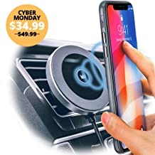 Magnet King Wireless Charging Mount | Qi-Lightning Fast Wireless Charging in Your Car & at Home | Compatible with iPhone XR/Xs Max/XS/X/8/8 Plus, Galaxy S10/S9/S9+/S8/S8+ and More