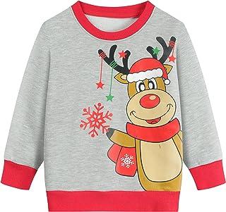 Toddler Boys Sweatshirts Fashion Long Sleeve Truck Dinosaur Crewneck Kids Tops