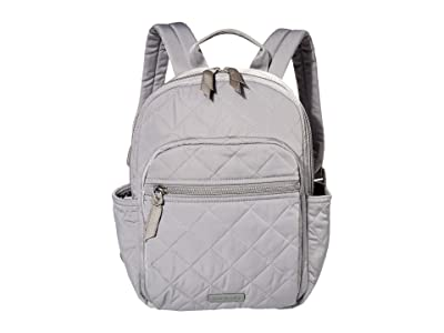 Vera Bradley Performance Twill Small Backpack (Tranquil Gray) Backpack Bags