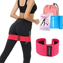 Shinyee Booty Hip Bands High Resistance Bands for Legs and Butt Workout Loop Exercise Band Women,Gym Fitness Circle Non Slip No Roll Fabric Heavy Duty Bootie Training Glute Band Hip