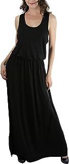 فستان طويل بظهر متقاطع للنساء من ToBeInStyle مع خصر مطاطي