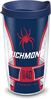 Tervis Richmond Spiders Spirit Insulated Tumbler with Wrap and Navy Blue Travel Lid, 16 oz, Clear