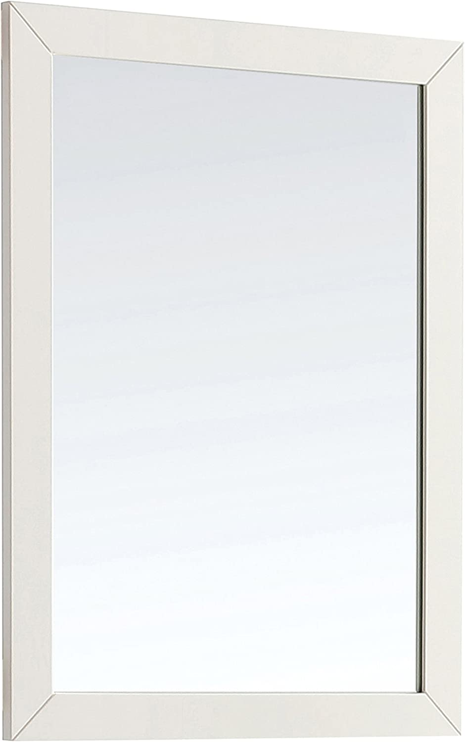 Simpli Home AXCMIR-3034-PG Paige 30 inch x 34 inch Bath Vanity Décor mirror in Off White