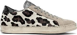 Women's John Cow/Black Low-Top Italian Sneaker