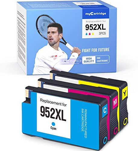 wholesale MYCARTRIDGE Remanufactured Ink Cartridge Replacement for HP 952XL 952 XL Officejet Pro 8710 8715 8720 outlet online sale 8740 7740 8210 8730 8702 8725 8216 (1 Cyan 1 Magenta new arrival 1 Yellow, 3-Pack) outlet sale