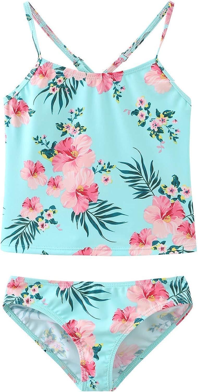 Moon Tree Girls Two Piece Swimsuits Tankini Swimwear Bathing Suit Set