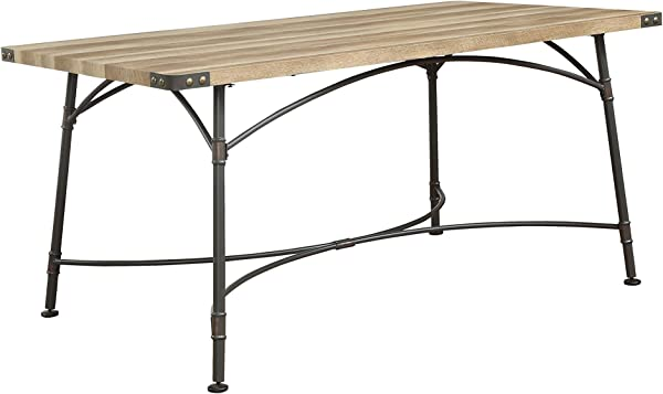 Acme Furniture 72080 Itzel Sandy Gray And Antique Oak Dining Table