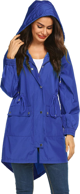 LOMON Waterproof 本日の目玉 Lightweight 格安 Rain Jacket Hooded R Active Outdoor