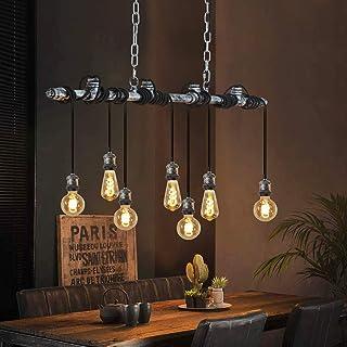 ZMH Vintage Lámpara colgante comedor lámpara de suspensión industrial Lámpara de techo 7 luces máx. 25 vatios E27 altura regulable para comedor, cocina, bar restaurante
