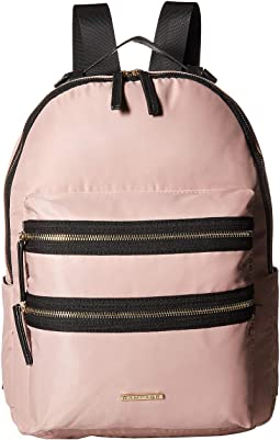 Nylon Exposed Zipper Backpack