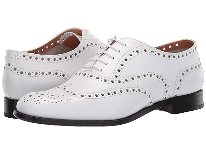 Retro Vintage Flats and Low Heel Shoes Churchs Burwood 7 Oxford White Womens Lace up casual Shoes $600.00 AT vintagedancer.com