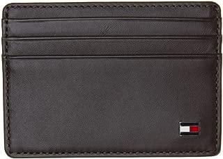 Tommy Hilfiger Men's Eton Leather Card Holder, Brown