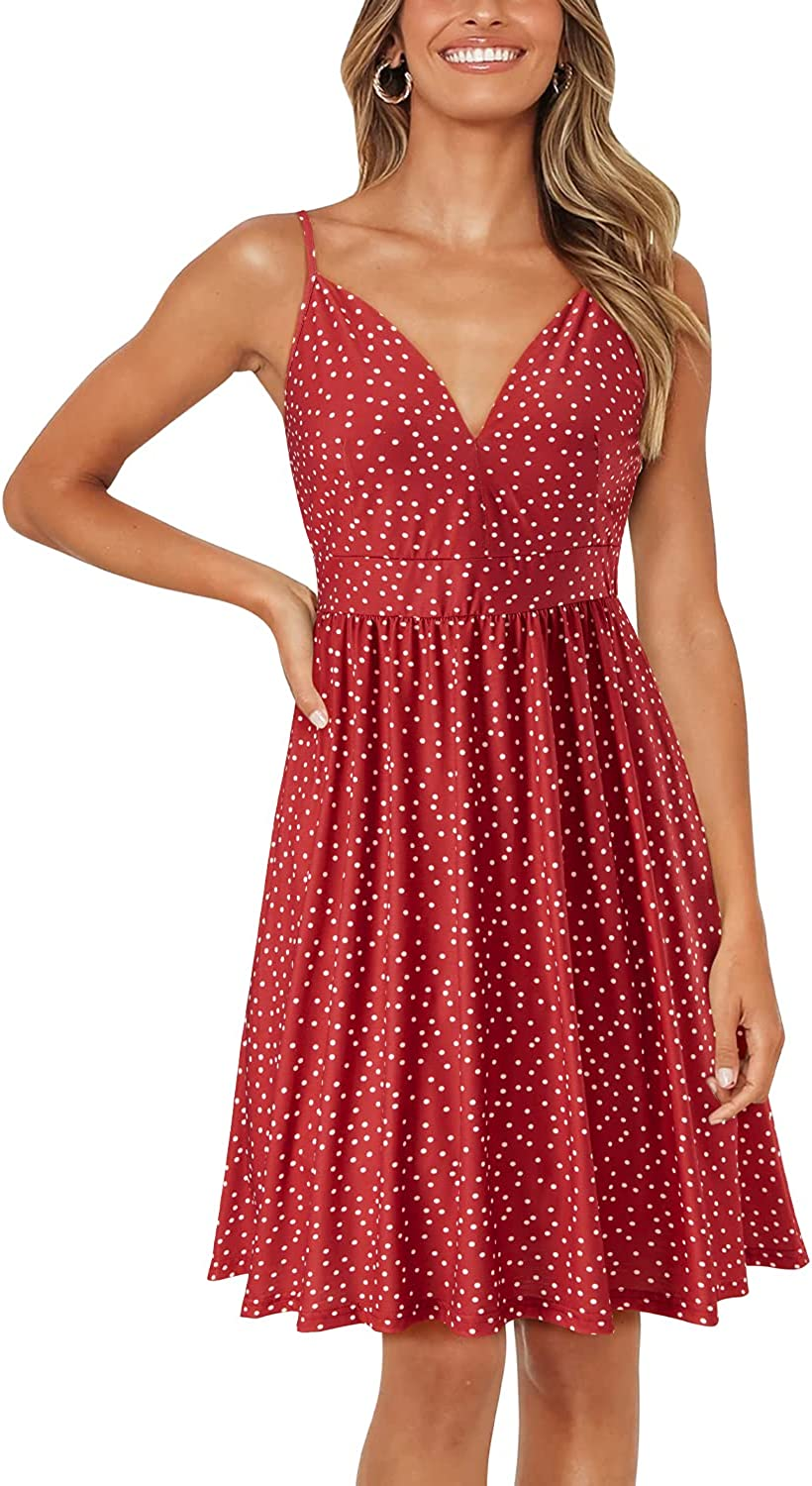 ULTRANICE Women's Summer Genuine Free Shipping Sexy Deep V Neck Max 42% OFF Floral Dresses w Party
