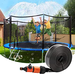 Trampoline Sprinkler, Outdoor Trampoline Water Sprinklers for Kids, Water Park Fun Summer Toys Trampoline Accessories for ...