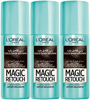 L'Oreal Paris Magic Retouch 3 Seconds to Flawless Roots (Cold Dark Brown) 3 pieces