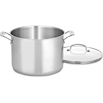 Cuisinart 76610-26G Chef's Classic 10-Quart Stockpot with Glass Cover,Brushed Stainless