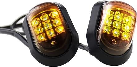 Micro Trader 2pcs Motorcycle Flush Mount LED Turn Signal Indicator Amber Left & Right
