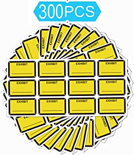 Legal Exhibit Stickers 1.65 X 1 Inches - Fluorescent Yellow Color-Coded Exhibit Labels 300 Stickers Per Pack