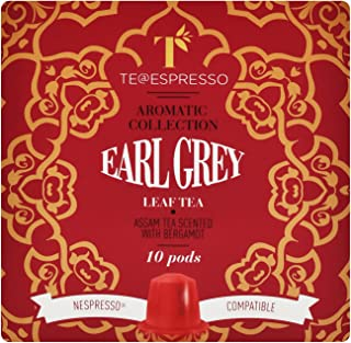 Earl Grey Tea by Teespresso - Nespresso Compatible Capsules , Fresh & Authentic , Rich Taste , Fully Flavored , Delicious...