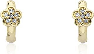 Kids Earring - 14k Gold-Plated Huggy Earring - Hypoallergenic And Nickel Free For Sensitive Ears