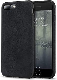 TENDLIN Compatible with iPhone 7 Plus Case/iPhone 8 Plus Case Premium Suede-Like Material Design Leather Hybrid Comfortabl...