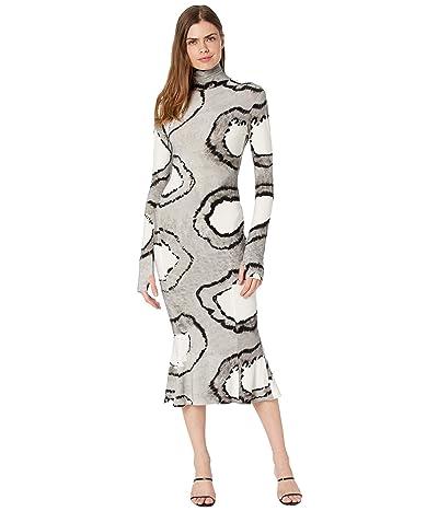 KAMALIKULTURE by Norma Kamali Long Sleeve Turtle Fishtail Dress To Midcalf