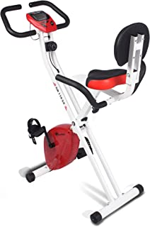 دراجة تمارين BX-110SX للبالغين من الجنسين من باورماكس فيتنس لدراجة المنزل / المغناطيسي X لفقدان الوزن - أحمر/أبيض، صغير الحجم