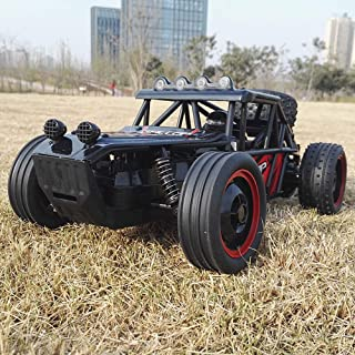 Kikioo 1:18 Big RC 4WD Double Motor Remote Control Car Off-road 2.4Ghz Wild Climbing Radio Controlled Race Rocks Crawler Buggy Racing Drift Car Electric High Speed Monster Truck Hobby Boy Girl Toy Red