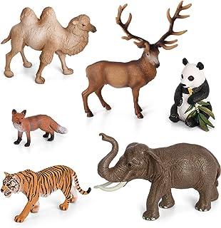 Animal Figurines Toys VOLNAU 6PCS Asia Animal Figures Zoo Pack for Toddlers Kids Christmas Birthday Gift Preschool Educati...
