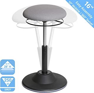 Seville Classics Airlift 360 Sit-Stand Adjustable Ergonomic Active Balance Non-Slip Desk Stool, Gray
