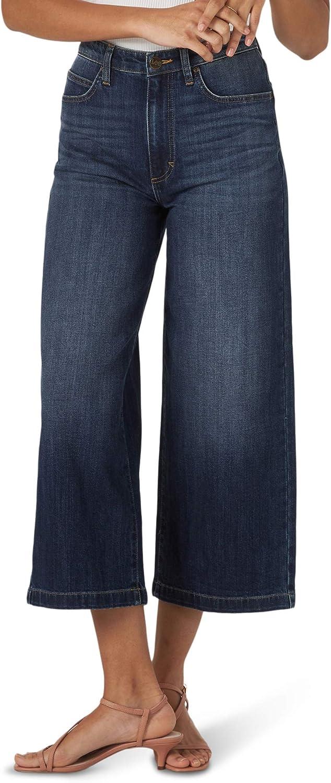 Lee Women's High Rise Wide Leg Crop Jean