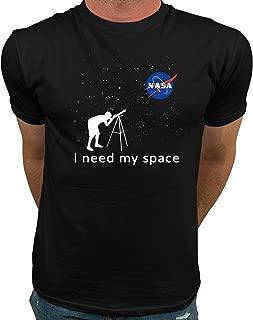 Official Logo NASA I Need My Space NASA T Shirts for Men
