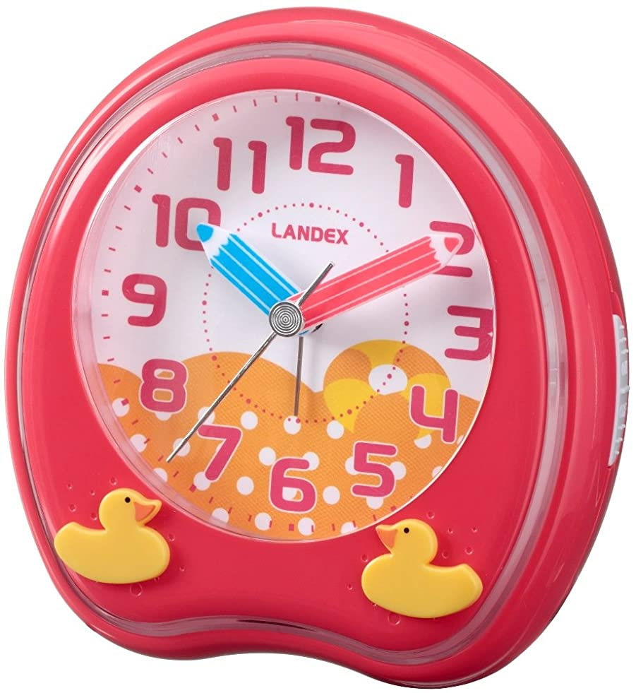 ハッピー口実人生を作るランデックス(Landex) 目覚まし時計 アナログ パークタイム 6曲メロディーアラーム レッド YT5219RD