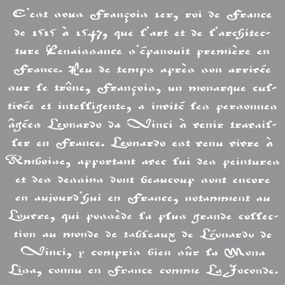 Rayher Latest Outstanding item Stencil Franz. Schrift 30.5x30.5cm 3.25 tab-Bag 1 pc x