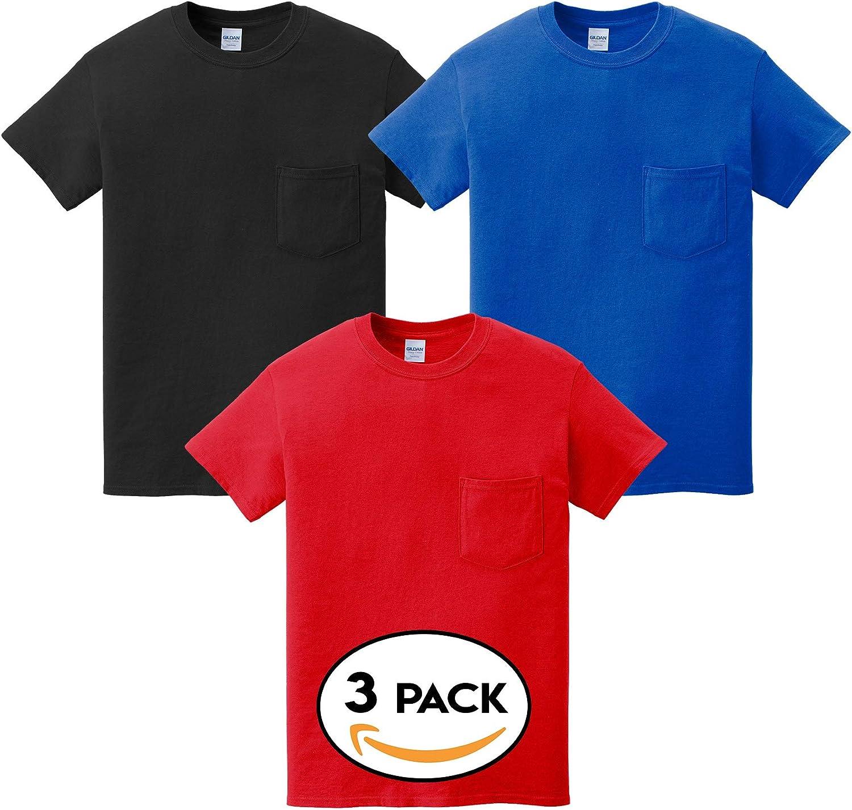 Multipack Gildan 5300 Men's Jacksonville Mall Bundle Pocket Make T-Shirts Your Financial sales sale - O