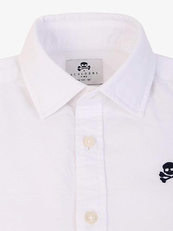 Scalpers Camisa ALGODÓN Logo Calavera - White / 10: Amazon.es ...