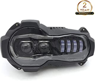 1pc LED Headlight Replacement Compatible with Motorcycle BMW R1200GS and GS 1200 Adventure Oil Cooler Models 2004-2012