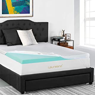 Lauraland Mattress Topper Full Size, 3-Inch Premium Gel Memory Foam Mattress Topper with Removable Active Cooling Cover, CertiPUR-US